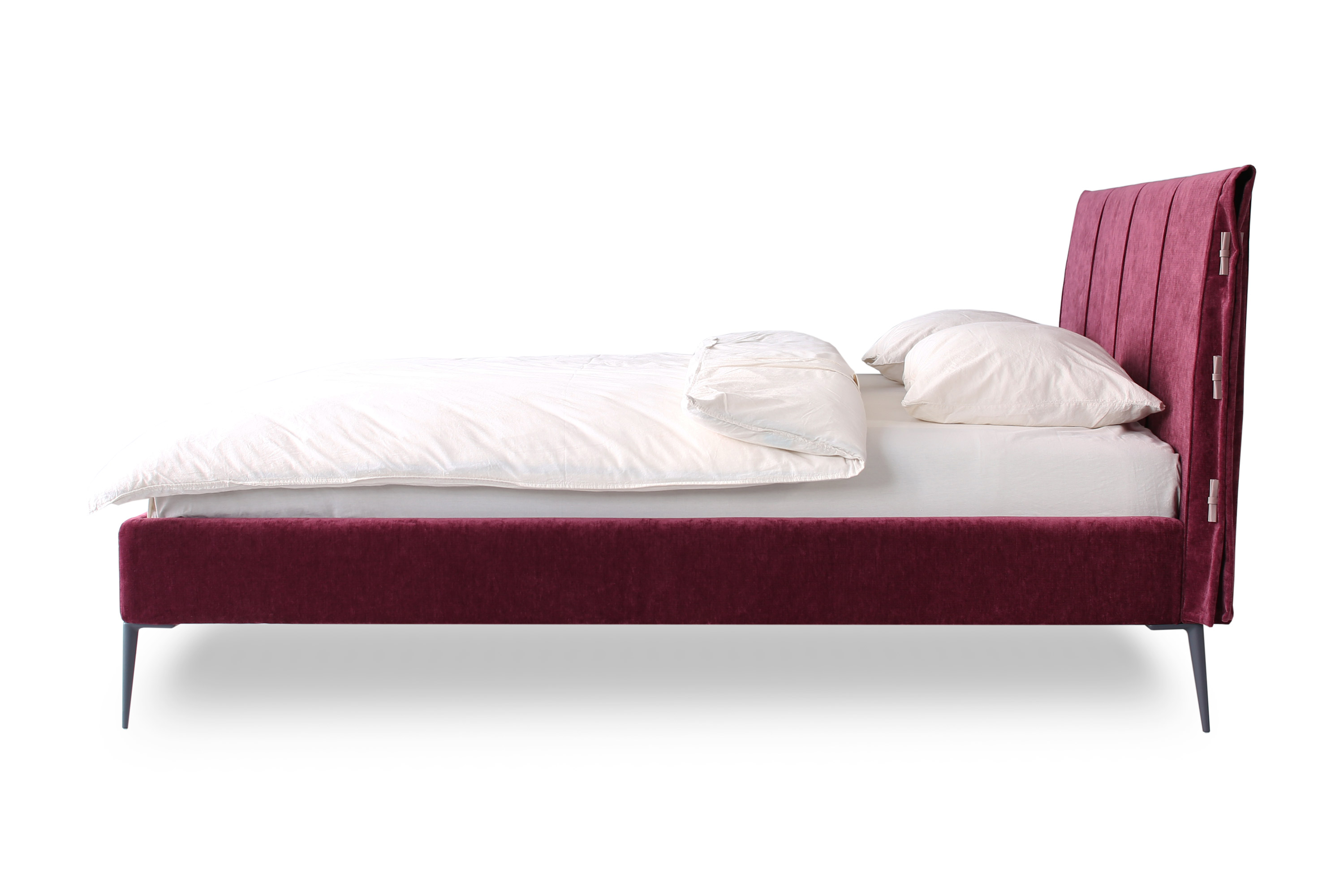 Double bed Sofia burgundy color
